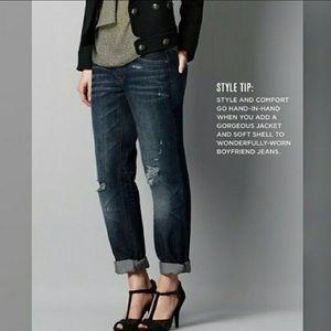 Loft Distressed Boyfriend Jeans